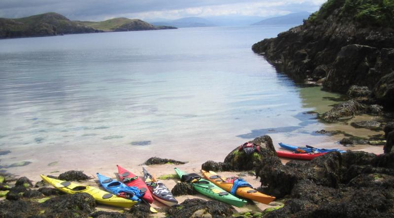 A Norwestseakayaking trip to one of the island beaches